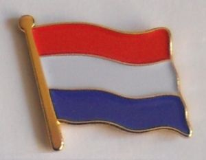 Holland Country Flag Enamel Pin Badge
